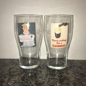 Retro Guinness Pint Glasses